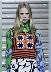 gucci crochet vest vintage color blocking