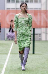green summer dress OTK boots