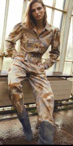 Ulla Johnson Floral Jumpsuit Cowboy Boots